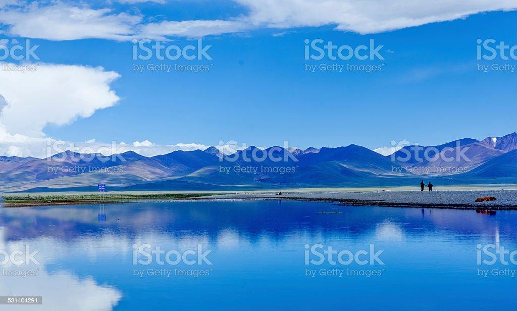 Namtso lake at tibet,china stock photo