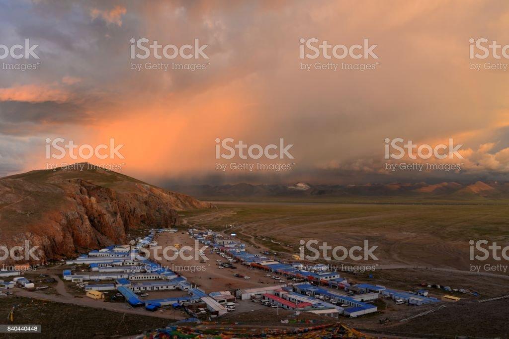 Namtso Lake in Tibet,China stock photo