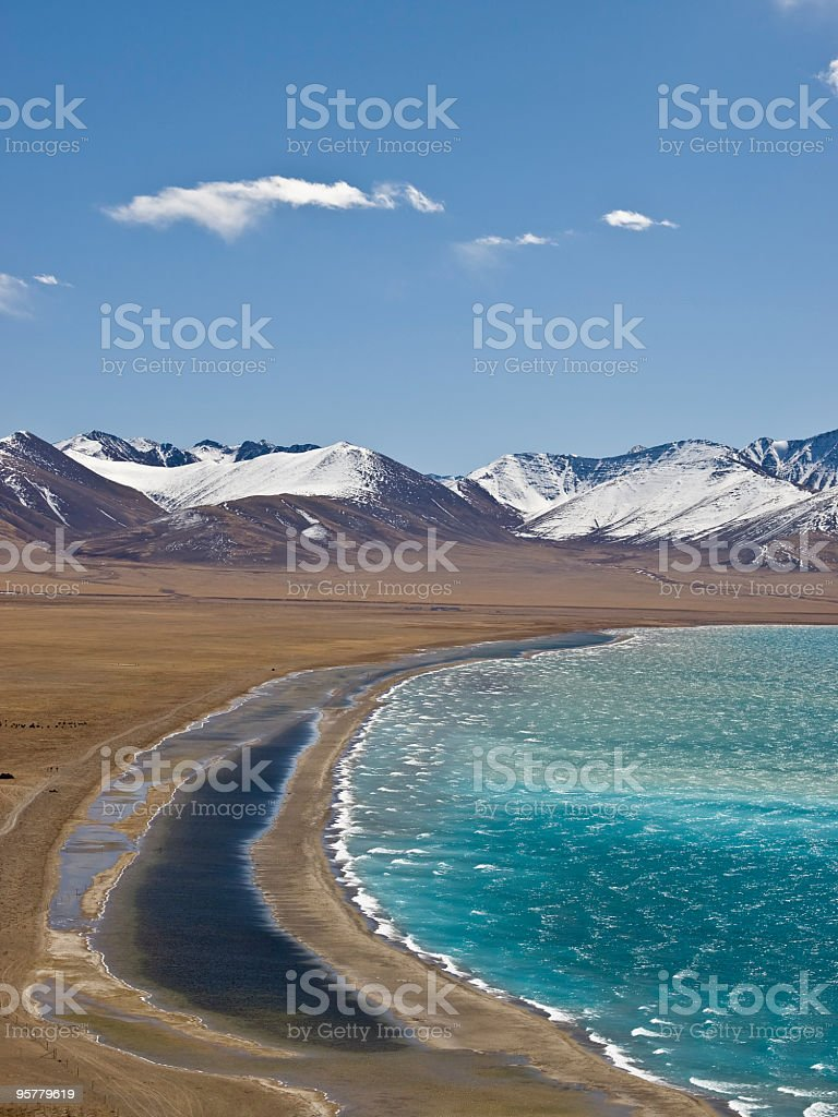 Namtso lake stock photo