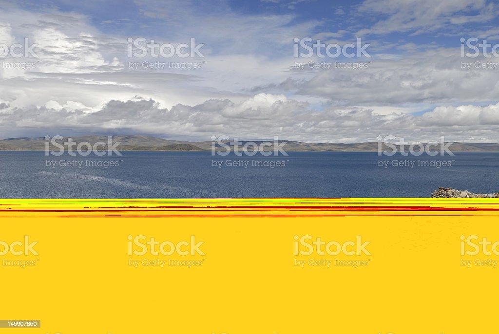Namtzo Lake, Tibet stock photo