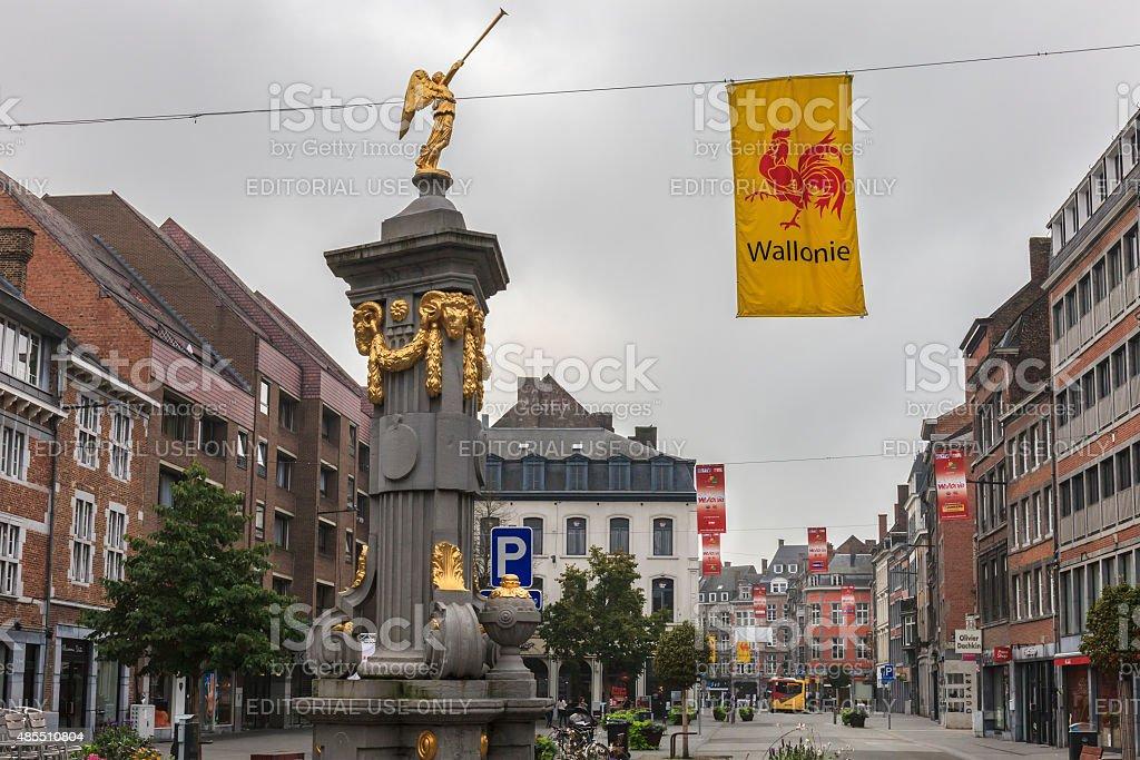 Namur - Place de l'Angle, Belgium stock photo