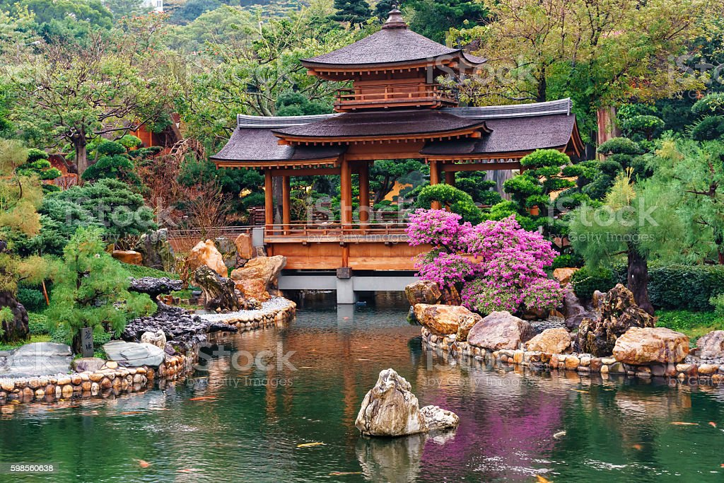 Nan Lian Garden at Diamond Hill in Hong Kong stock photo