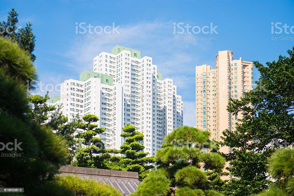 Nan Lian garden - beautiful garden in town stock photo