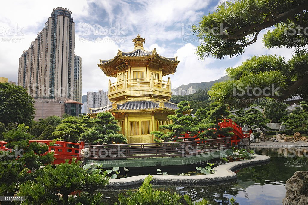 Nan Lian Garden, Chi Lin Nunnery, Diamond Hills, Hong Kong stock photo