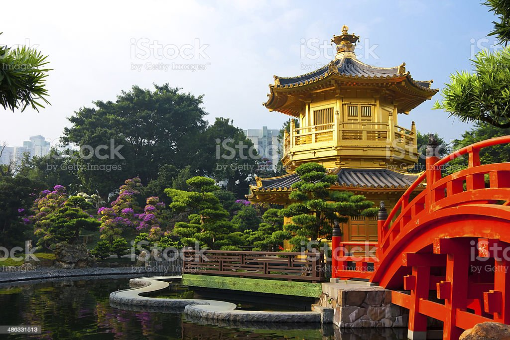 Nan Lian Garden Hong Kong stock photo