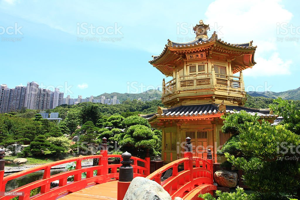 Nan Lian Garden, Hong Kong stock photo