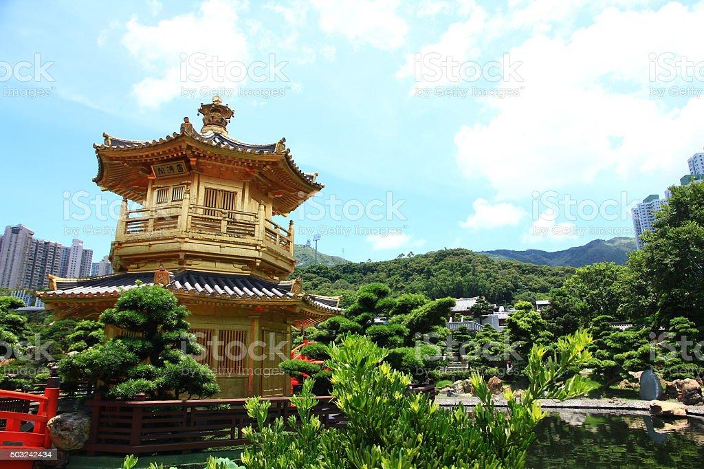 Nan Lian Garden, Hong Kong stock photo