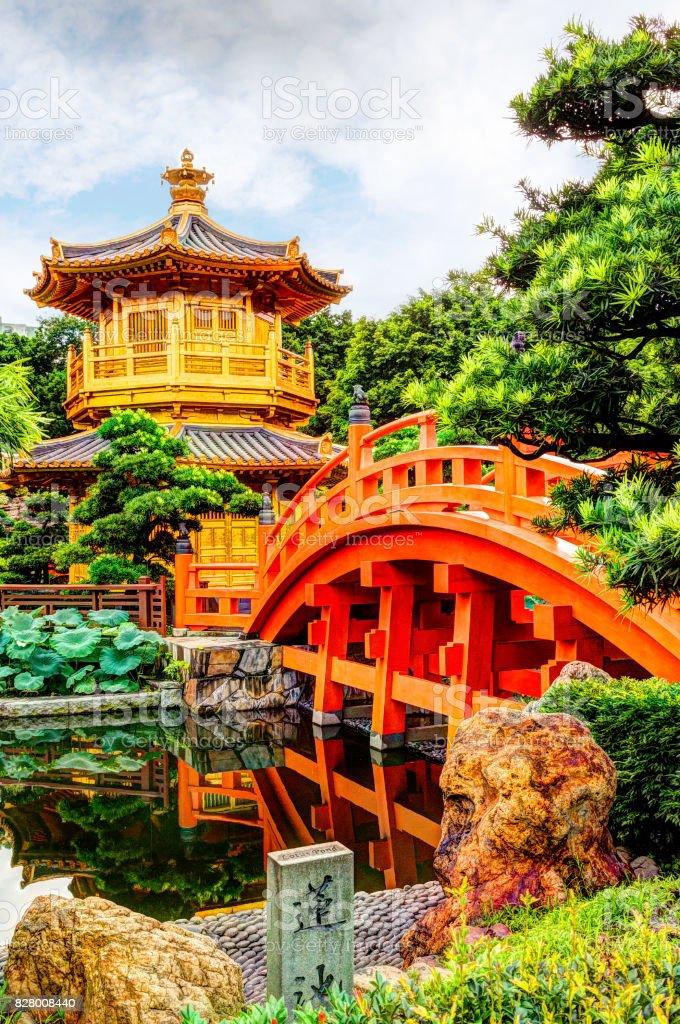Nan Lian Garden in Diamond Hill, Hong Kong stock photo