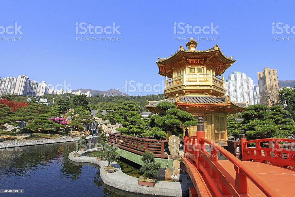 Nan Lian Garden, in Hong Kong. stock photo