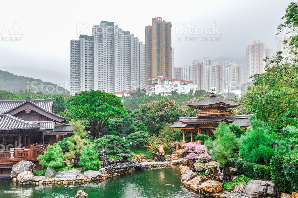 Nan Lian Garden in Hong Kong stock photo