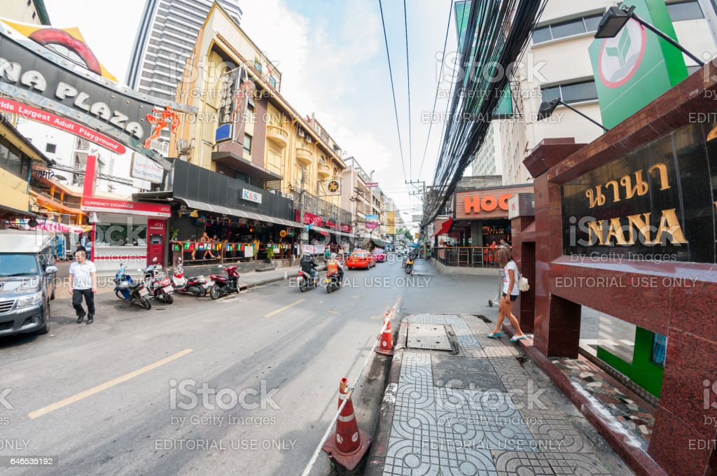 Nana Plaza In Bangkok Thailand stock photo