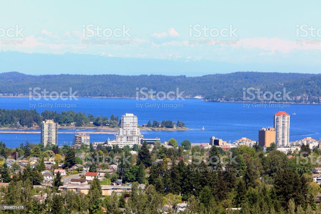 Nanaimo BC Waterfront Living stock photo