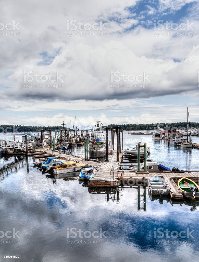 Nanaimo Harbor on Vancouver Island, BC, Canada stock photo