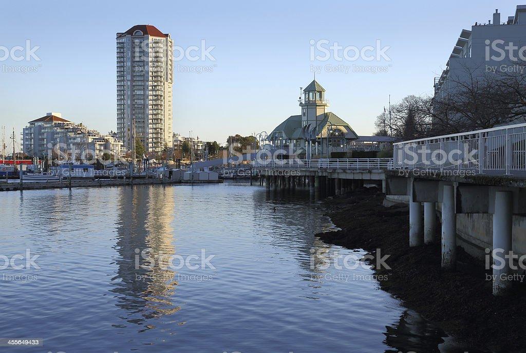 Nanaimo Harbor Waterfront, British Columbia royalty-free stock photo