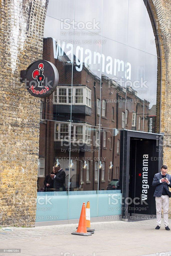Nando's in Southwark, London stock photo