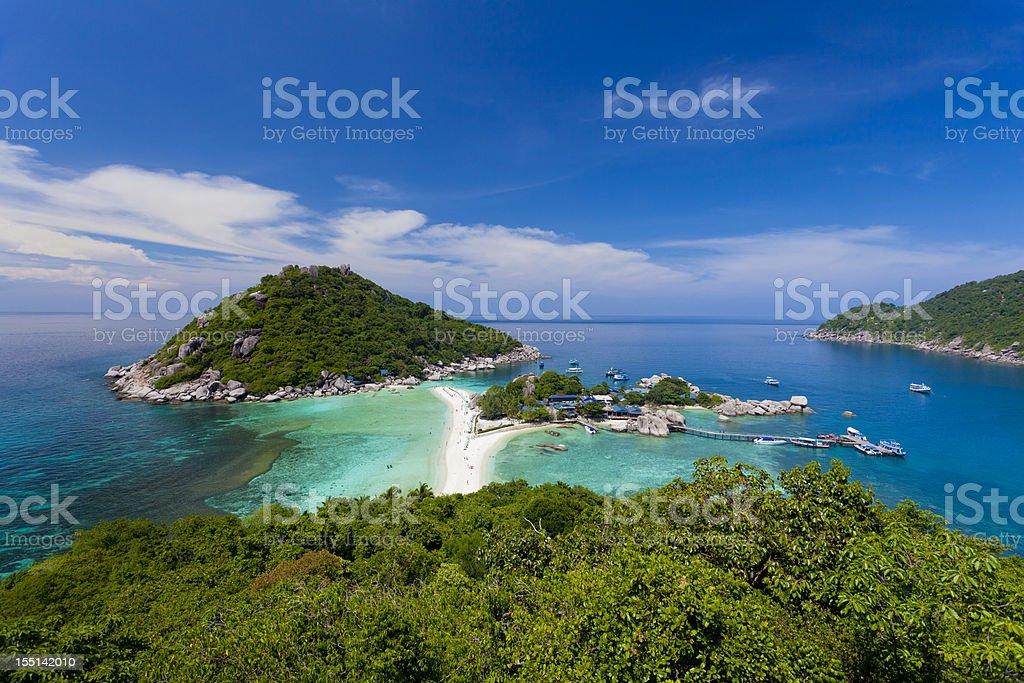 Nang Yuan Island at Koh Tao, Thailand stock photo