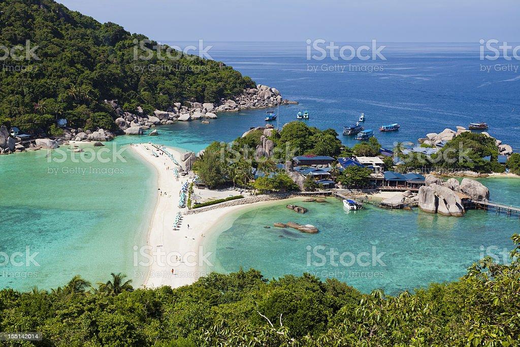 Nang Yuan Island at Koh Tao, Thailand royalty-free stock photo