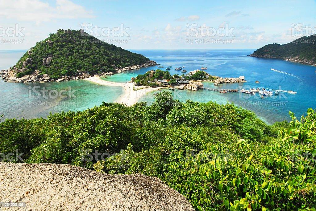 Nang Yuan island stock photo
