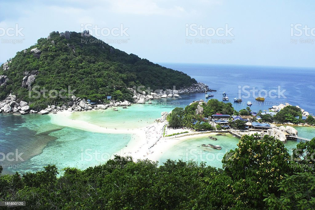 Nang Yuan island, Thailand royalty-free stock photo