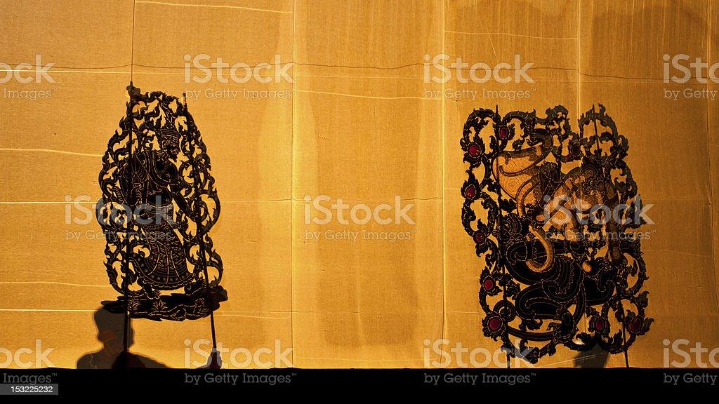 Nangyai grand shadow play stock photo