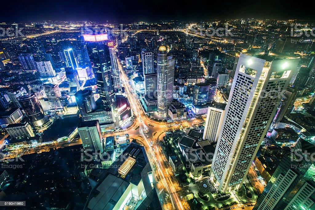 Nanjing cityscape, China stock photo