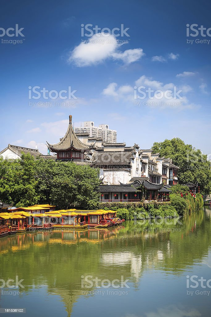 nanjing confucius temple royalty-free stock photo