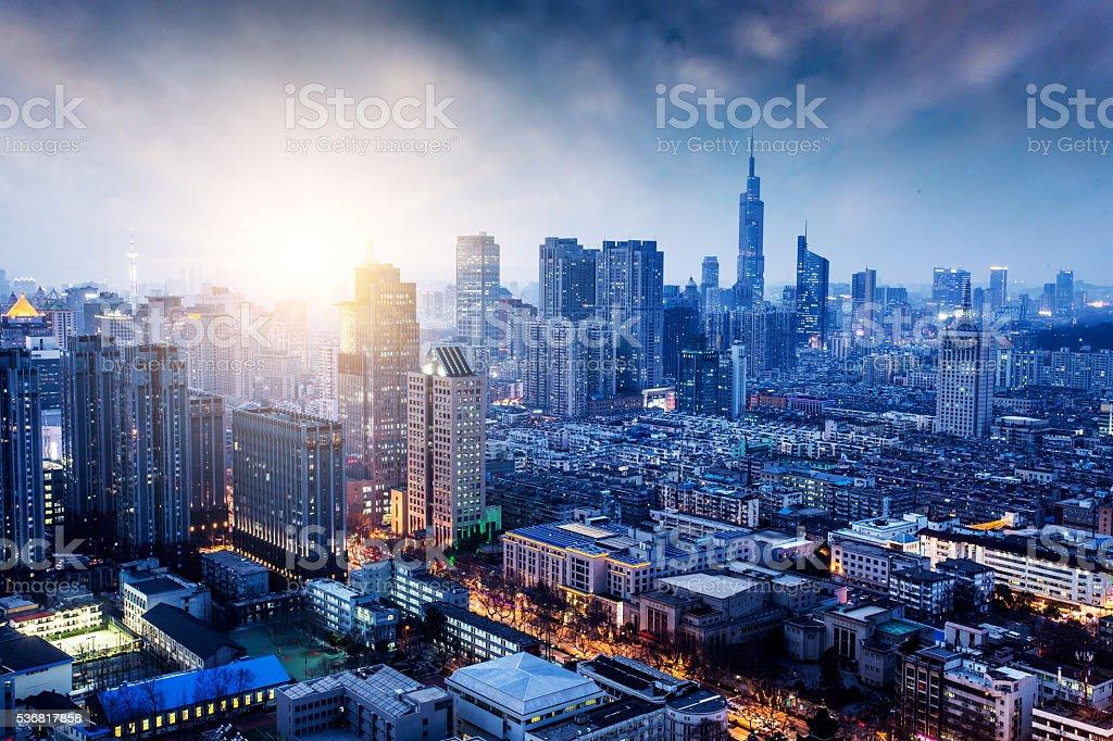 Nanjing skyline stock photo