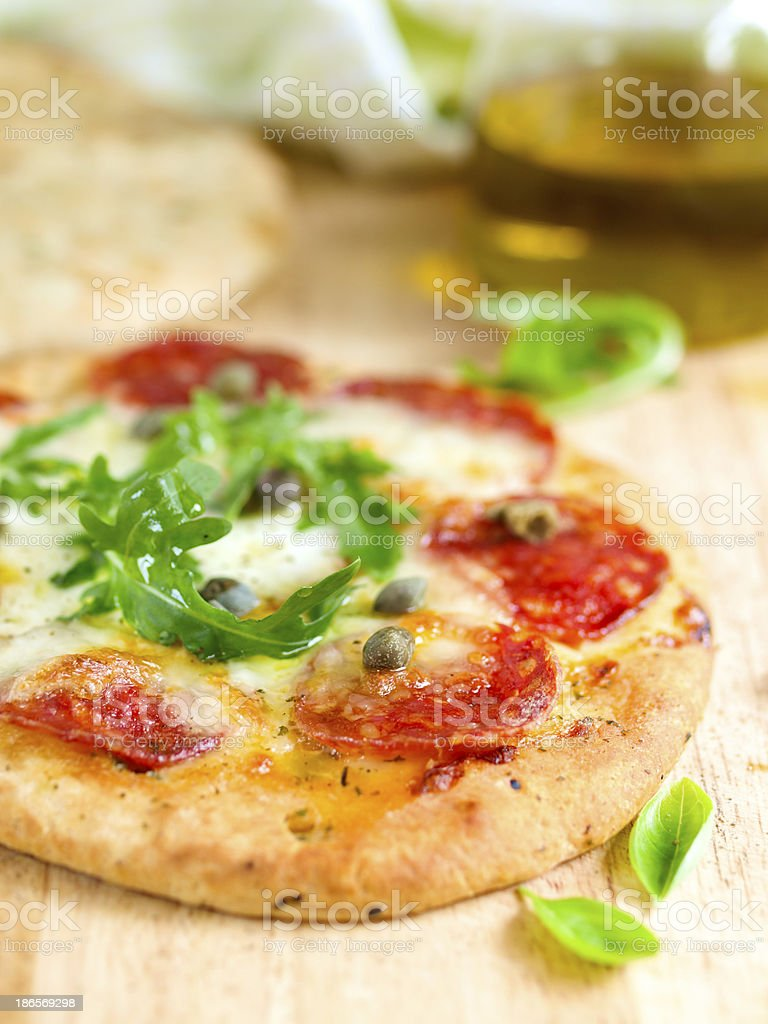 Nann pizza royalty-free stock photo