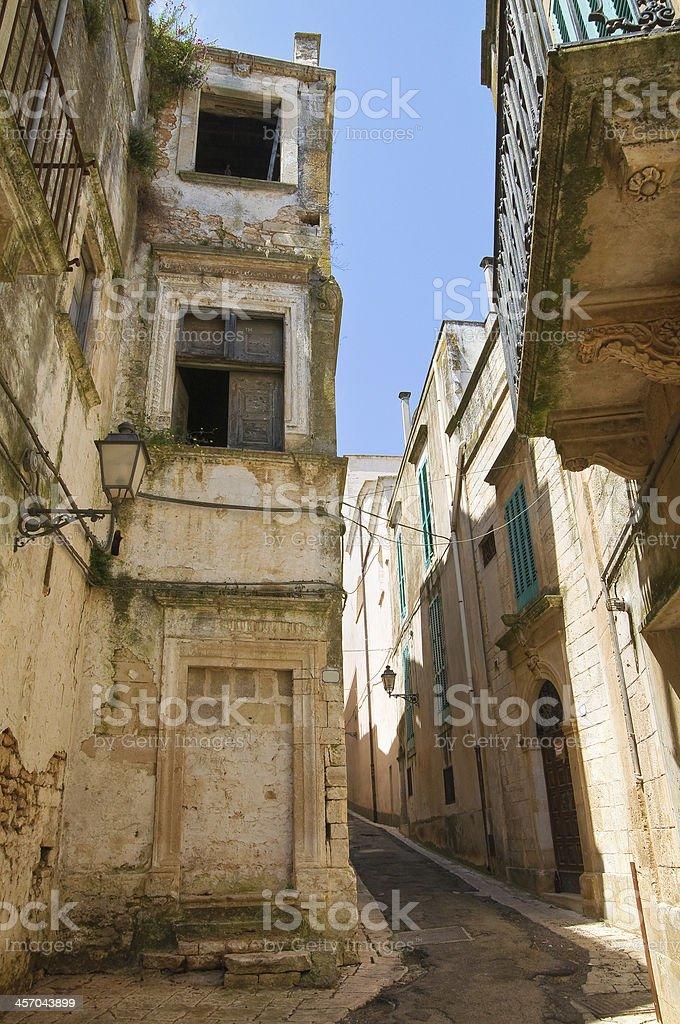 Nannavecchia palace. Ceglie Messapica. Puglia. Italy. stock photo