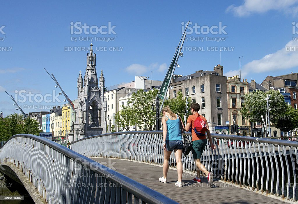 Nano Nagle Footbridge, Cork stock photo