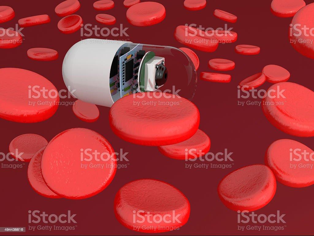 Nano Robot stock photo