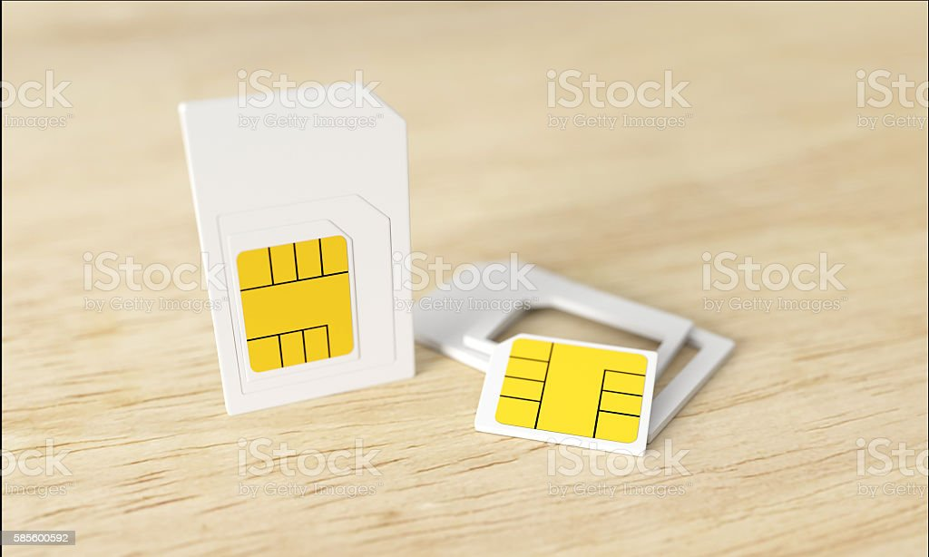 nano sim card stock photo