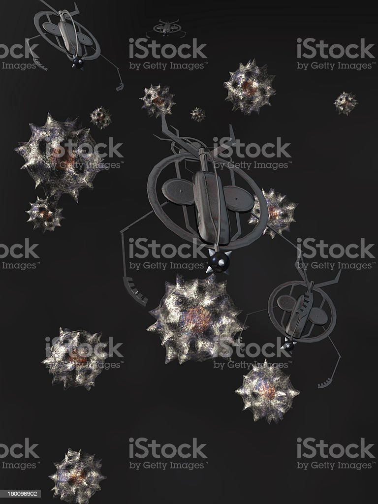 Nanobots royalty-free stock photo