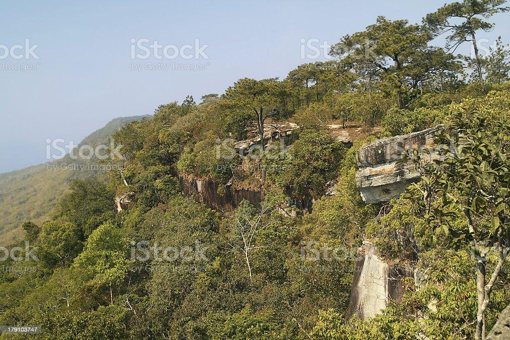 Nanoi cliff - Mesa of Phu Kradueng NP royalty-free stock photo