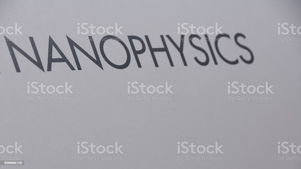 nanophysics sign stock photo