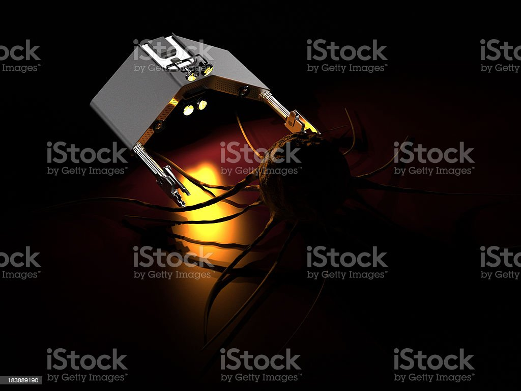 Nanotechnology and  Cancer Cell royalty-free stock photo