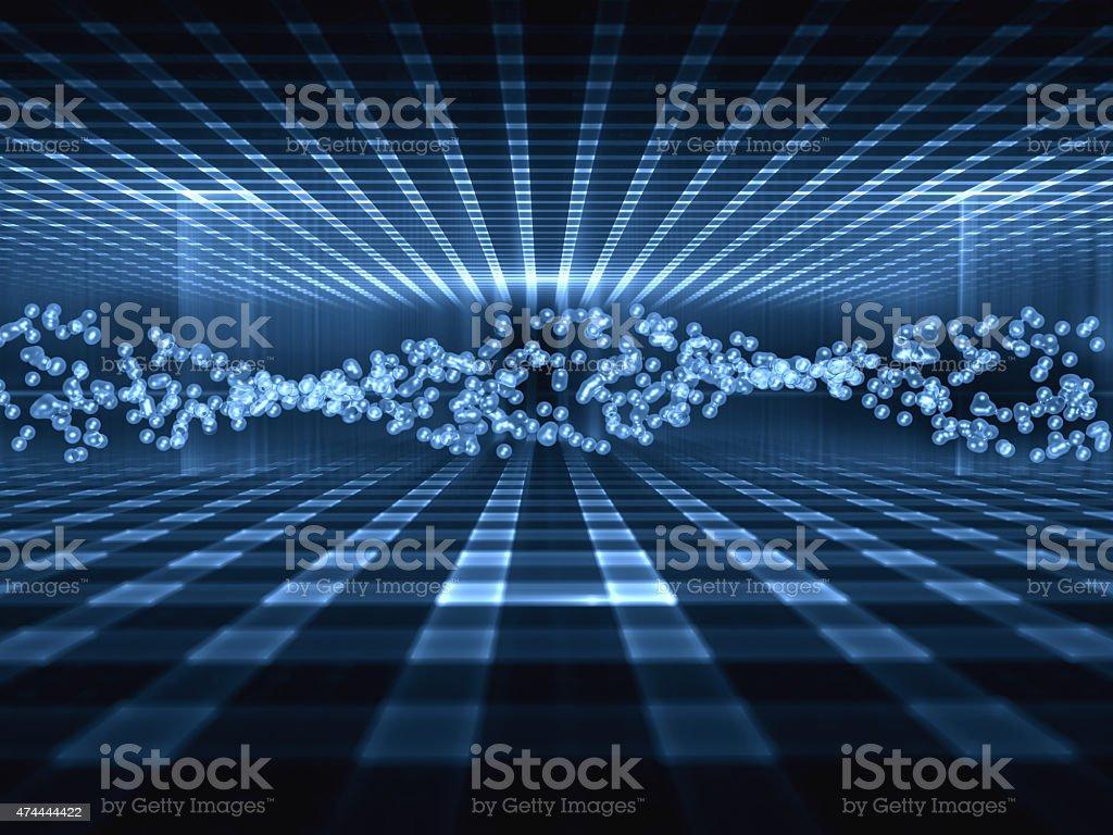 Nanotechnology concept stock photo
