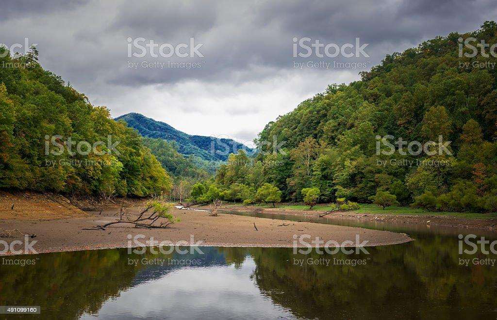 Nantahala River Autumn stock photo