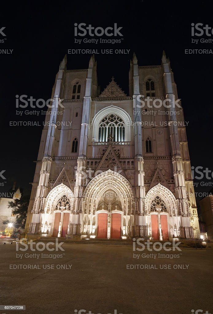 Nantes Cathederal France stock photo