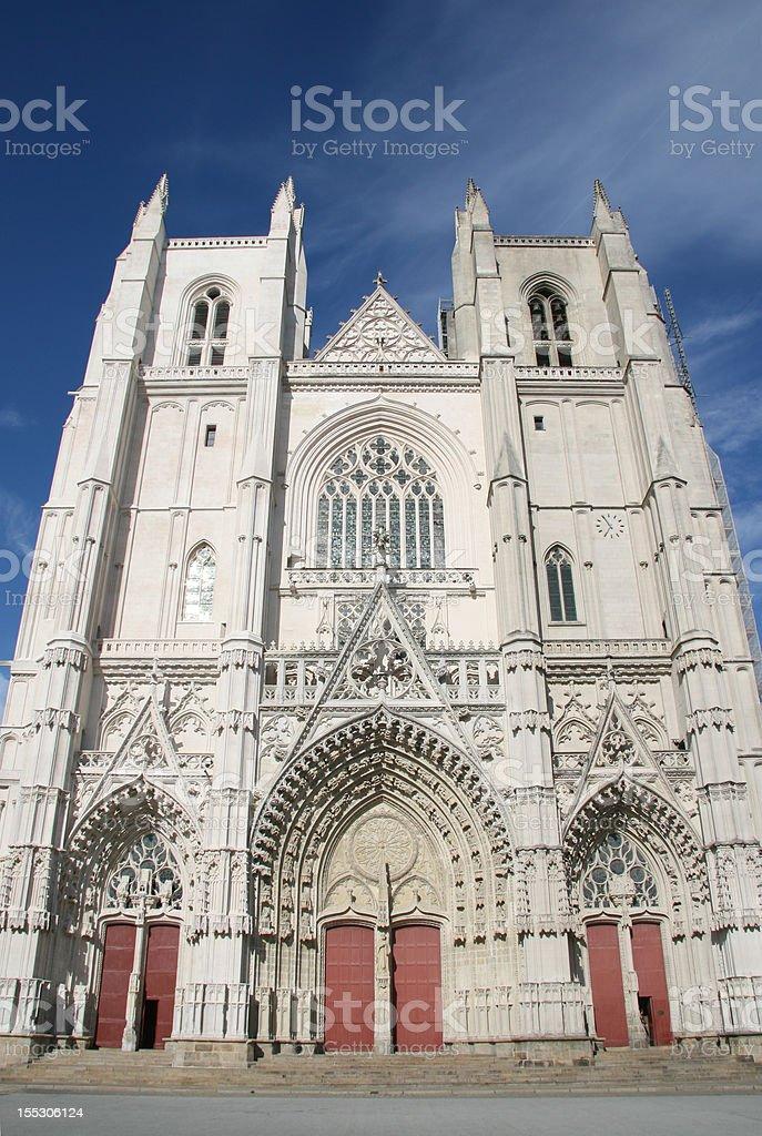 Nantes Cathedral stock photo