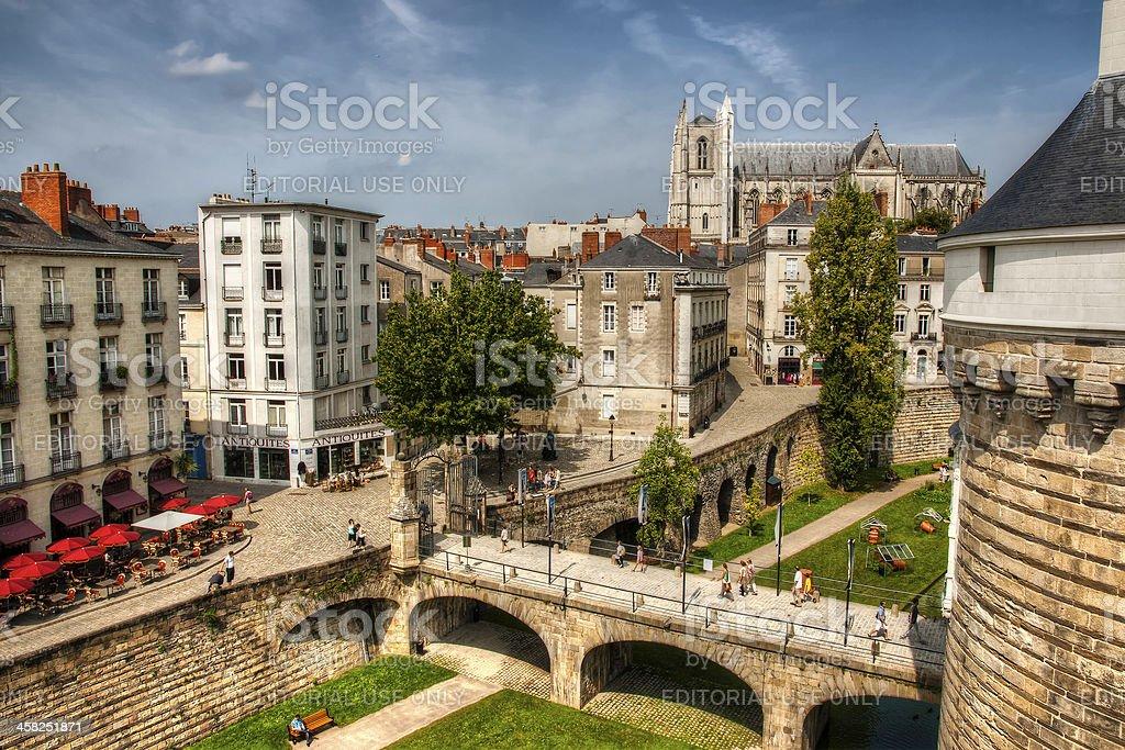 Nantes - The Castle of Brittany Duke's stock photo