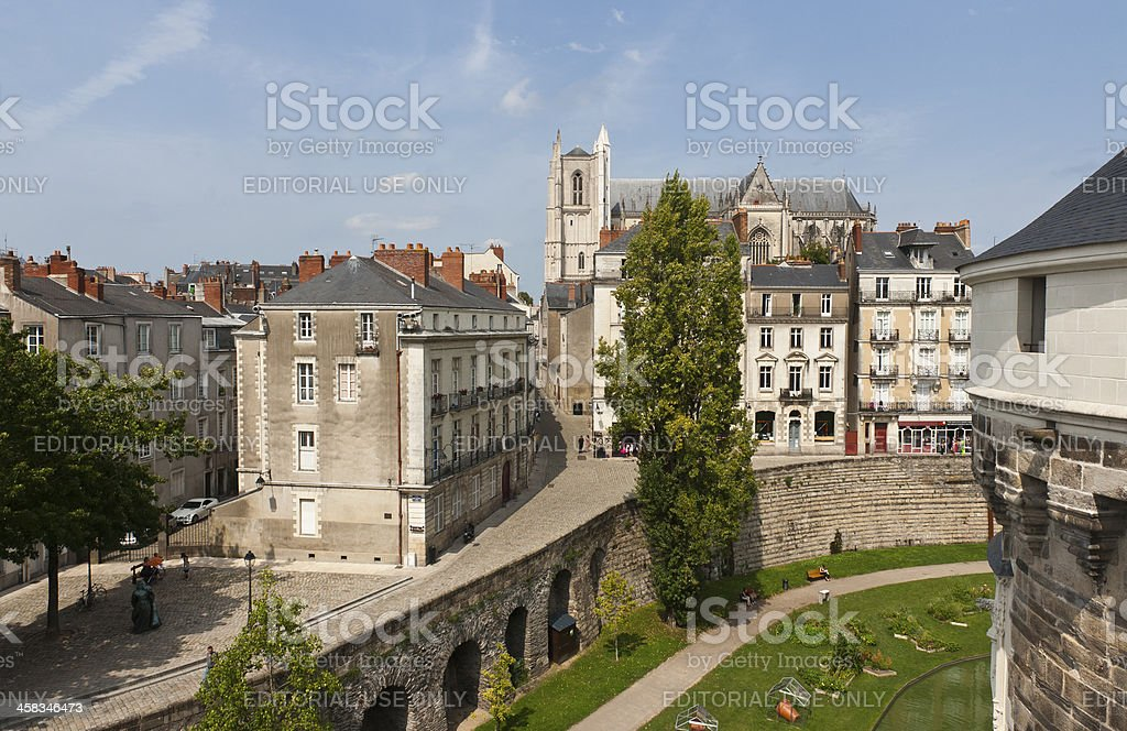 Nantes - The Castle of Brittany Dukes stock photo