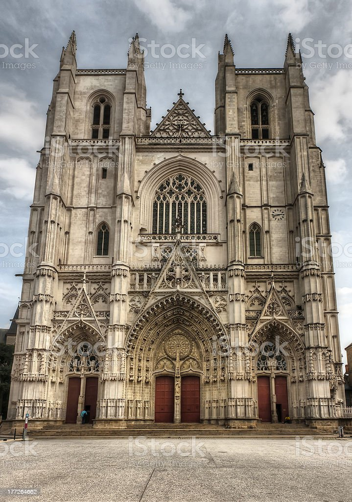Nantes - The Cathedral St Paul and Peter stock photo