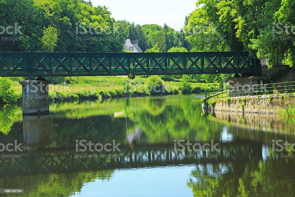 Nantes-Brest canal, France stock photo