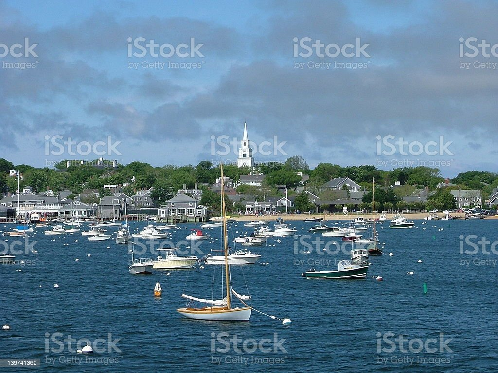 Nantucket Harbor royalty-free stock photo