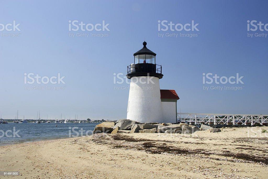 Nantucket Island lighthouse royalty-free stock photo