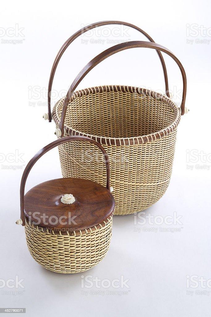 Nantucket Lightship Basket Arrangement royalty-free stock photo