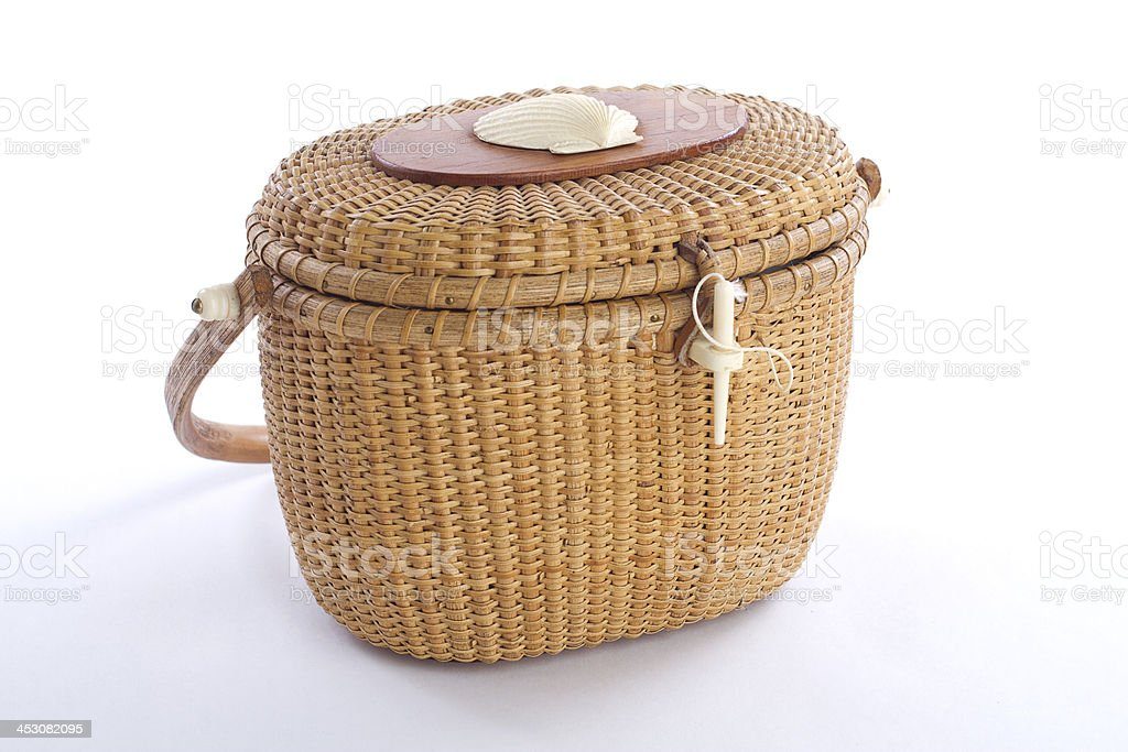 Nantucket Lightship Basket royalty-free stock photo