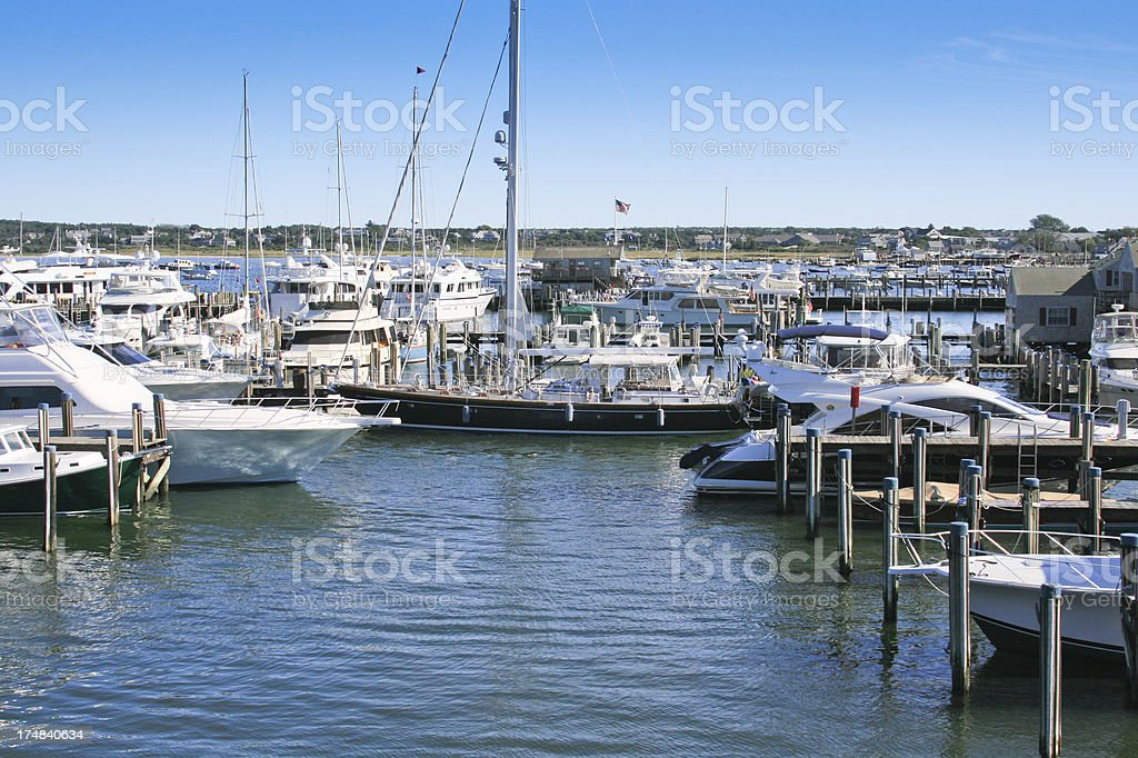 Nantucket Marina royalty-free stock photo