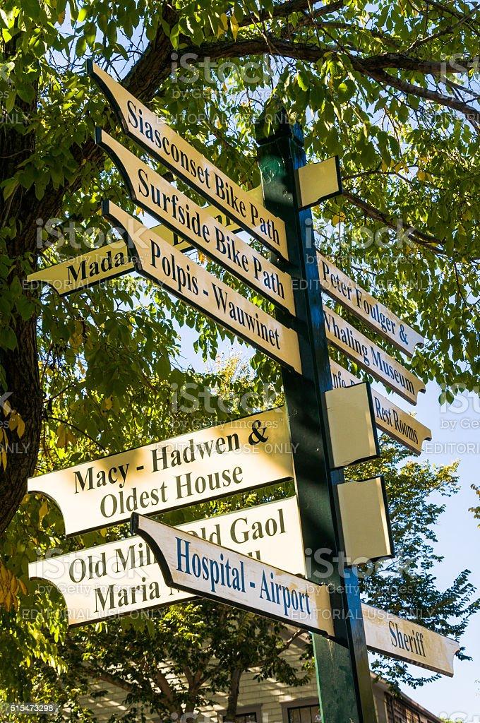 Nantucket Road Directions stock photo